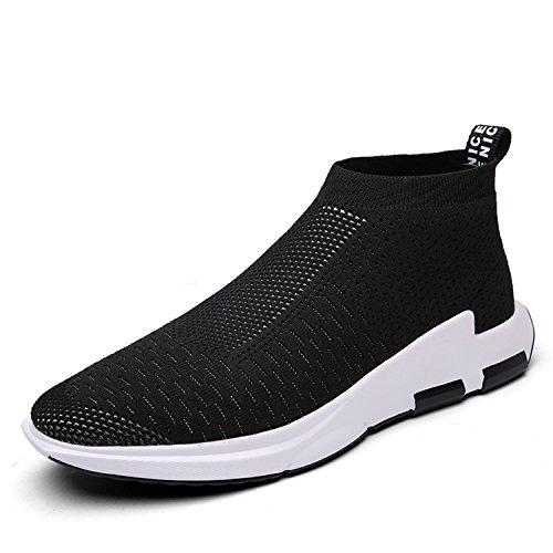 Straßenlaufschuhe Herren Damen Laufschuhe Fitness Turnschuhe Sneakers Air Sportschuhe Running Shoes(Schwarz, 40EU)