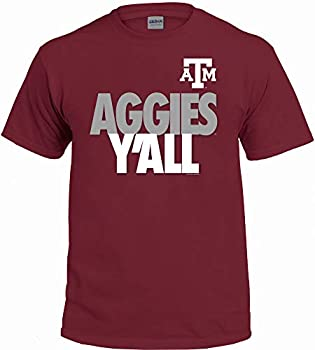 NCAA Y all T Shirts - Multiple Universities Available - Up to 2X and 3X  Texas A&M Aggies Large