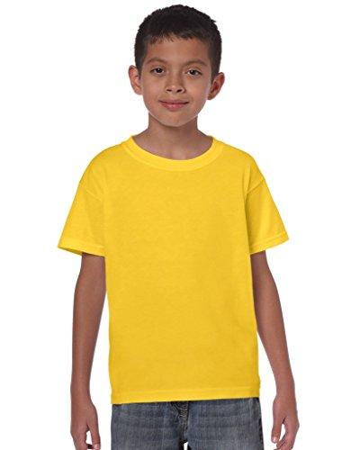 Gildan: Kids` Heavy T-Shirt 5000B, Größe:XL (182+);Farbe:Daisy Yellow