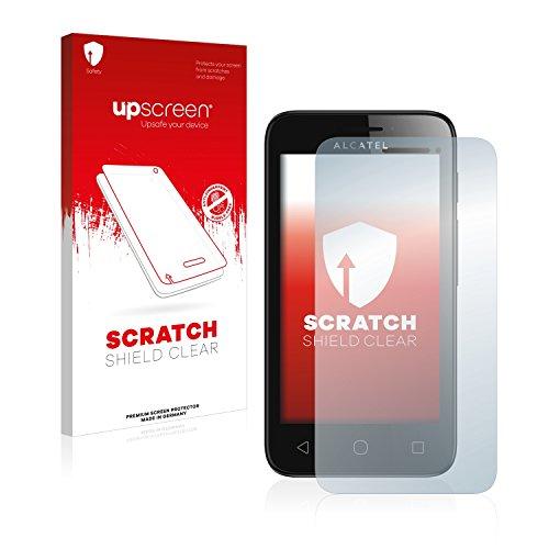 upscreen Schutzfolie kompatibel mit Alcatel One Touch Pixi First – Kristallklar, Kratzschutz, Anti-Fingerprint