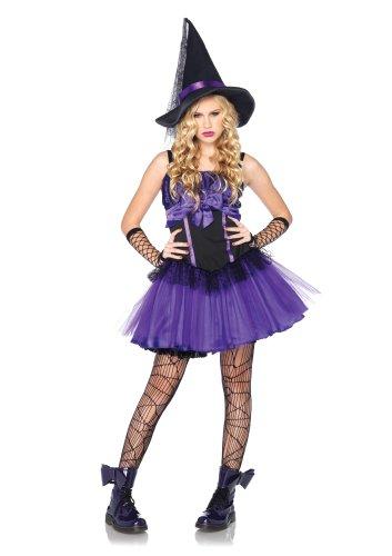 Leg Avenue - J4807206039 - Costumi per Bambini - J Modello 48072 - Strega Costume Jr - Taglia M / L - Nero / Viola