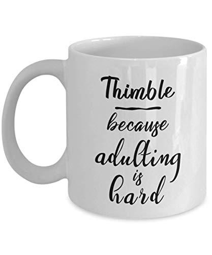 Coffee Mug Fingerhut, Weil Erwachsenwerden Ist Hart Büro Frauen Geschenke Geschenk Porzellantasse Lustige Männer Neuheit Tee Keramikbecher Kaffee 330Ml Coole Mitarbeiter Langlebig