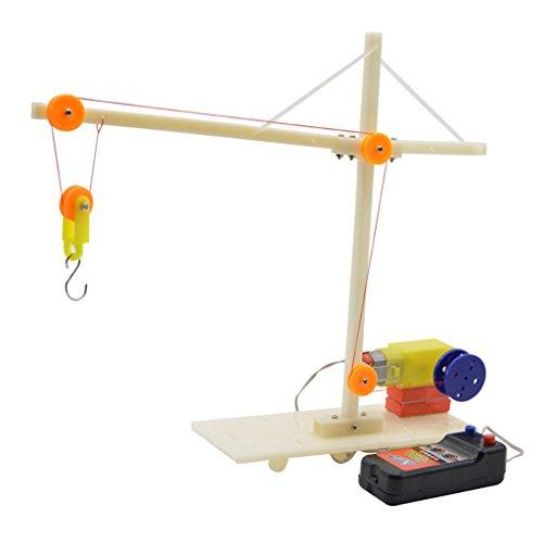 F Fityle Modelo de Montaje de Bricolaje Grúa Eléctrica Física Ciencia Niño...
