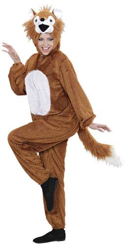 Widmann 9970A - Erwachsenenkostüm Fuchs, Overall mit Maske