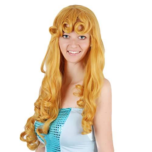 mama stadt Prinzessin Cosplay Perücke, Erwachsene und Kinder Perücke mit Perücke-Kappe, Perücken für Karneval Halloween Fasching Kostüme Party Fest
