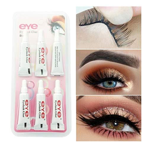 6Pcs Strong Fast False Wimpern Kleber Wasserdichter Wimpernverlängerungskleber Gel Double Eyelid Beauty Makeup Tool