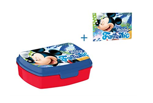 Mickey Mouse Brotdose Lunchbox & Waschlappen