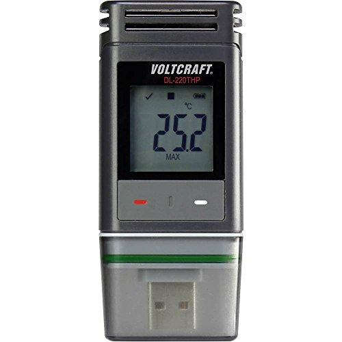 VOLTCRAFT DL-220THP Temperatur-Datenlogger, Luftfeuchte-Datenlogger, Luftdruck-Datenlogger Messgröße Temperatur, Luftfe