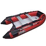 NEHARO Kayaks 4 Barcos de Asalto espesados herméticos Barcos inflables para la Deriva en el mar Fácil de Transportar para la Playa (Color : Red, Tamaño : 300x152x42cm)