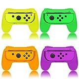 Grips for Nintendo Switch Joy-Con,FYOUNG Hand Grips Controllers for Nintendo Switch Joy Con (4 Pack) (Orange&Purple&Green&Yellow)