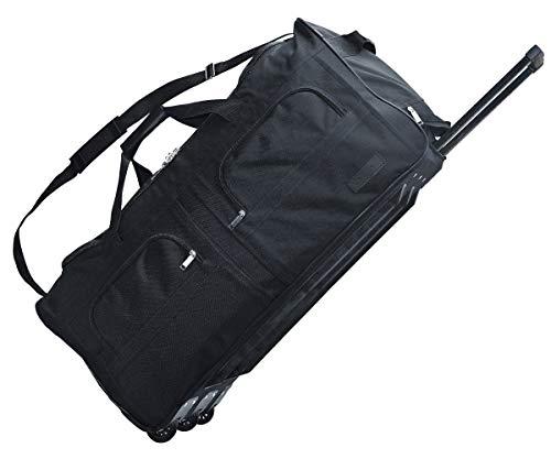 McAllister TravelSystem Reisetasche mit Rolen Trolley Sporttasche Reisetasche Schwarz 60L 80L 100L oder 140L 60 Liter