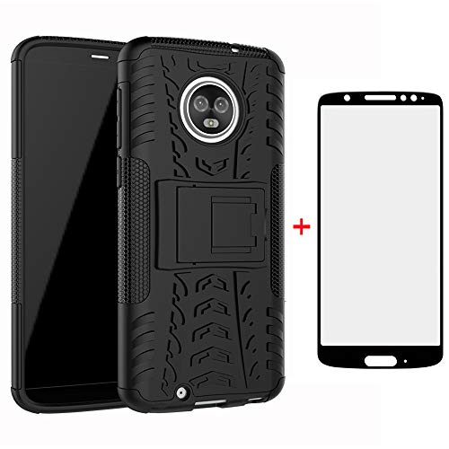 Phone Case for Motorola Moto G6 with Tempered Glass Screen Protector...