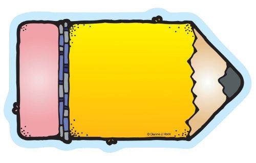 Carson Dellosa – Chunky Pencils Colorful Cut-Outs, Classroom Décor, 36 Pieces