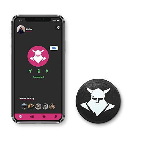 Tocsen Sensor GPS Sturzhelmsensor zum Aufrüsten für Fahrradhelm, Skihelm und Reithelm, schwarz, one size