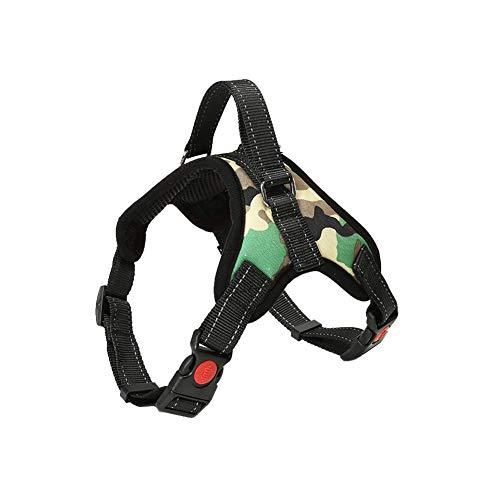Hundegeschirr Verstellbar Pet Dog Vest Harness Welpengeschirr Weich Gepolstertes Brustgeschirr Weste MCGrün M