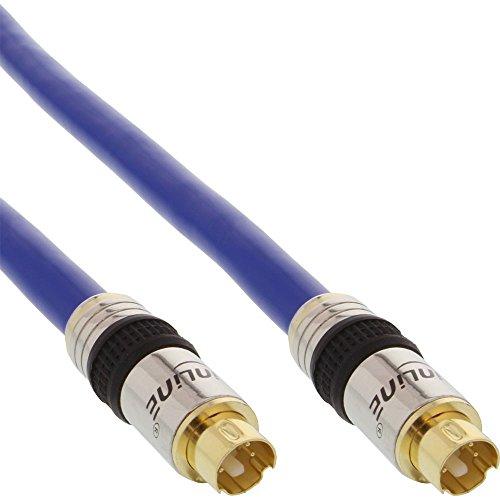 InLine 89947P S-VHS Kabel, PREMIUM, vergoldete Stecker, 4pol mini DIN Stecker / Stecker, 0,5m