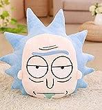 NZ Muñeca de Dibujos Animados de Felpa Rick y Morty Peluches de Peluche cómodos Cojines Suaves Cojín de Soporte Muñeca de Anime de Dibujos Animados 45 cm