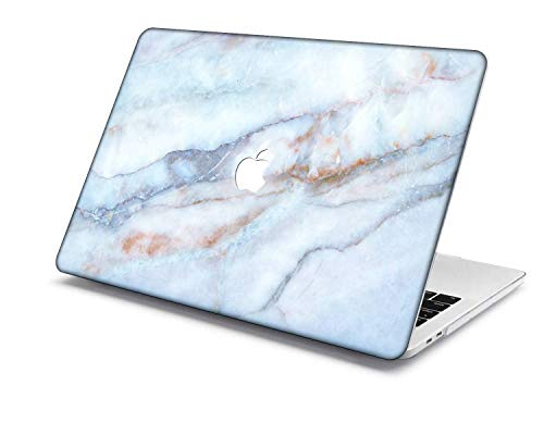 Old MacBook Air 13 Case Model:A1466/A1369,QiuHuiCase Plastic Shell Cover Only Compatible Release 2010-2017 Old MacBook Air 13 inch (No Touch ID) (Marble 289)