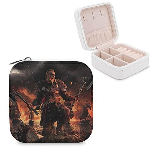 Assassin's Creed ValhallaJewelry Caja de almacenamiento de joyas con compartimento para administración del hogar, viajes, pendientes de regalo, collar de moda