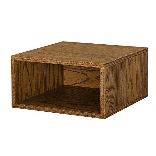 [en.casa] Armario de diseño Combinado - Sistema de estantería de Pared - 30x15x30 cm - Nogal