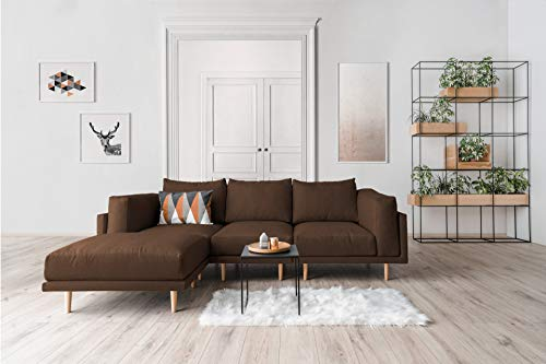 FEYDOM Scandi-Style Sofa CLOOODS innovatives Multi-Funktionssofa I Design Wohnlandschaft I Modulares Sofa System (Schokolade, Velare)