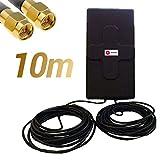 W WONECT Antenne 4G 50dbi LTE UMTS 3G Extérieur Câble SMA. Haute Puissance. Long Alcance. Extérieur Câble SMA mâle...
