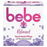 bebe Relaxed Tag & Nacht Pflege, Gesichtscreme mit Mondblütenduft, Alle Hauttypen, 50 ml