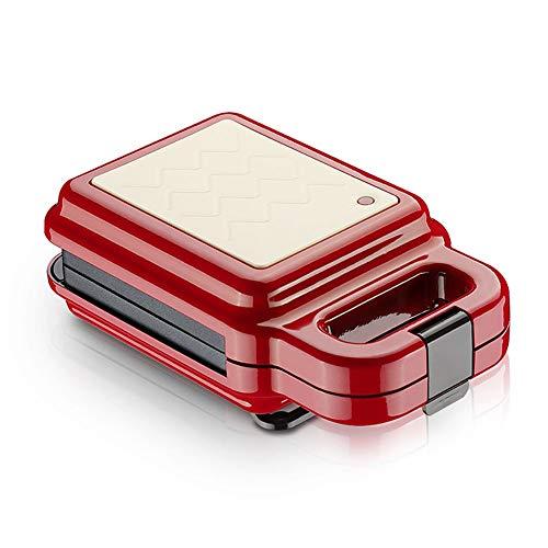 Mini wafelijzer, Elektrische wafelijzer, Afneembare bakplaat, gemakkelijk schoon te maken, Automatic Temperature Control, Perfect for geroosterde kaas Snacks, Red