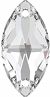 3223 Swarovski Sew On Crystals Navette | Crystal | 12mm - Pack of 48 (Wholesale) | Small & Wholesale Packs