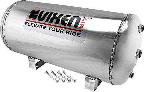 Vixen Air 7 Gallon (26 Liter) 9 Ports Suspension/Air Ride/Bag/Train Horn Stainless Steel Air Tank 200 PSI VXT7300SS