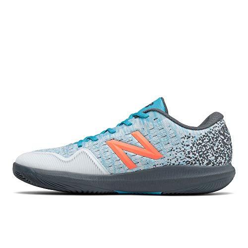 New Balance Men's FuelCell 996 V4 Hard Court Tennis Shoe, White/Virtual Sky, 8