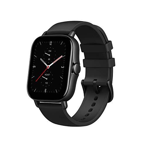 Amazfit Smartwatch GTS 2e GPS 1,65''Aktivitätstracker für Fitness und Gesundheit mit 90 Sportmodi, 14 Tagen Akkulaufzeit, Überwachung von SpO2, Herzfrequenz, Schlaf, Stress für Herren Damen (Schwarz)