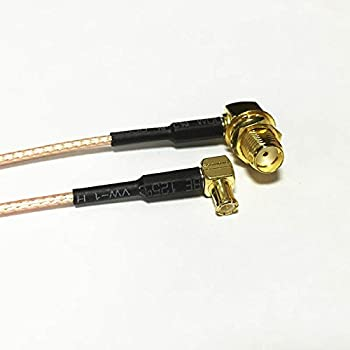 SMA Male Right Angle 90-Degree to BNC Male Right Angle RA RF Coax Cable RG58 50cm 20inch