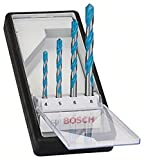 Bosch Professional 2 607 010 521 Juego de 4 brocas multiuso Robust Line CYL-9 MultiConstruction 4 5 6 8 mm, 0 W, 0 V, Acero Inoxidable, Set de 4 Piezas