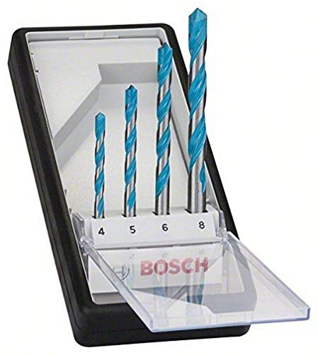 Bosch Professional 2607010521' Robust Line CYL-9' Multi-Purpose Drill Bit-Set, Silver, Set of 4 Pieces