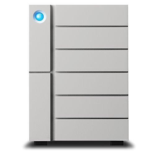 LaCie 6big Thunderbolt 3, externe Festplatte 24 TB, 3,5 Zoll, 6-Bay RAID, Thunderbolt 3, PC & Mac, inkl. 3 Jahre Rescue Service, Modellnr.: STFK24000402