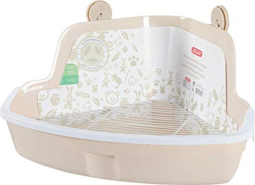 Zolux - Casa de baño esquinera roedor, tamaño Grande, Color Beige, 43 x 32 x 20 cm