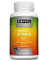 FORTEMENT DOSÉES : 120 capsules végétaliennes sur 4 mois, apport continu des vitamines les plus précieuses de A à Z. Sans la présence de l'iode. UNE CAPSULE PAR JOUR : Pour assurer de nombreuses fonctions normales de l'organisme : Système immunitaire...
