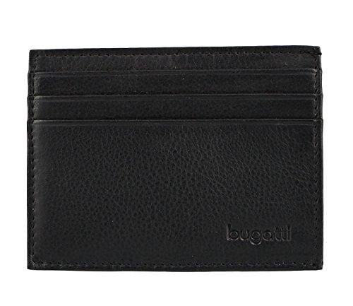 Bugatti Schutzhülle für Kreditkarten, Sempre mit Schlüsselring, 10 cm, Schwarz