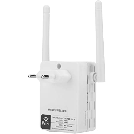 Wendry Amplificador de señal WiFi,Plug and Play,WiFi no Tiene ángulos Muertos,Material ABS Antena Dual de 300Mbps Inicio WiFi Extensor repetidor ...