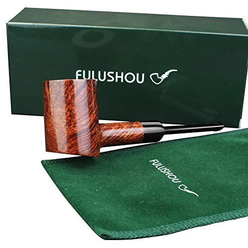 FULUSHOU Mediterranean Briar Wood Tobacco Pipe, Hammer Desktop Tobacco Pipe