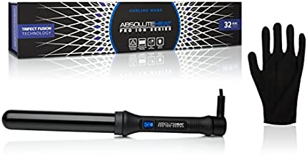 Absolute Heat Pro Ion Clipless Curling Wand, 32mm, Black