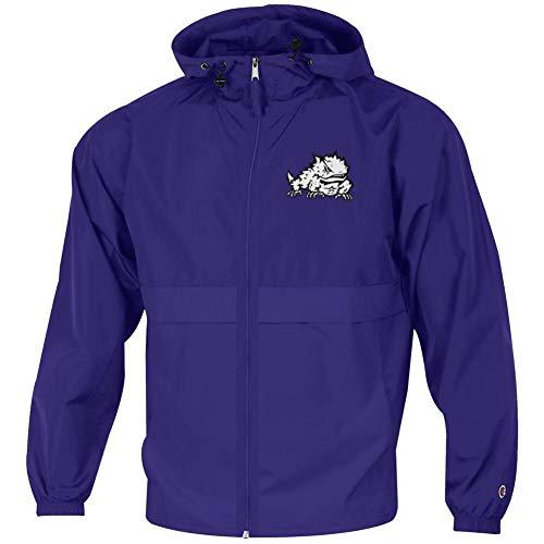 Men's TCU Texas Christian Jacket Full Zip Windbreaker Jacket (X-Large)