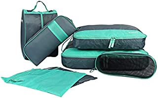 7pcs Travel Storage Bag Set Luggage Suitcase Packing Organizer Cubes Laundry Shoe Pouch with Toiletry Bag