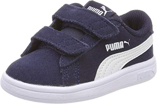 Puma Unisex-Kinder Smash v2 SD V Inf Zapatillas, Blau (Peacoat White), 27 EU
