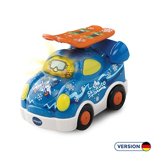 Vtech 80-143884 Tut Tut Baby Flitzer Special Edition Ski-Auto Babyspielzeug, Mehrfarbig