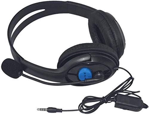 WHSS Auriculares con Cable Auriculares Gaming 40 Mm Altavoz De Graves De Los Auriculares Estéreo con Micrófono Aislamiento del Ruido For Sony PS3 For PS4 Portátil PC Gamer Auriculares (Negro)