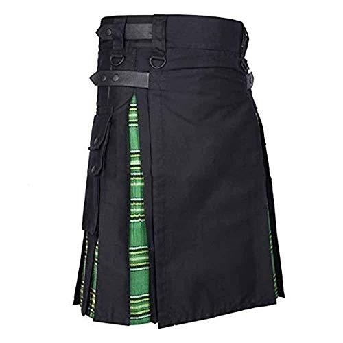 Dienstprogramm Kilt schottischen traditionellen Highland Kleid für Herren, mittelalterliche Vintage schottischen Rock mit Taschen