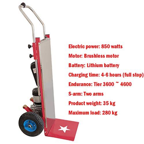 XH-Tool Elektrischer Edelstahl-Handwagen-Faltbarer Treppensteiger-Wagen, tragbarer kletternder Wagen-unterstützter Gebrauchswagen-Handwagen und Transportwagen mit 2 Rädern