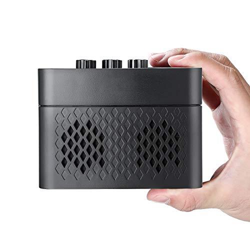 Amplificador para Guitarra,SOULGIRL Portátil Bluetooth Amplificador para Guitarra,5 Vatios Multiefectos Amplificador para Guitarra con dos Canales, con Reverberación